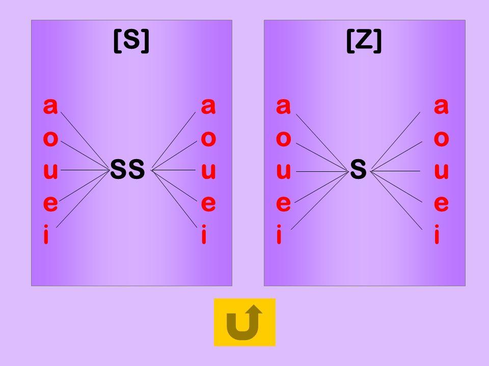 règle1[S] a a. o o. u SS u. e e. i i. [Z] a a. o o. u S u. e e.